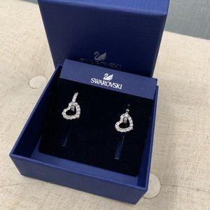 Swarovski - Heart Earrings - NIB